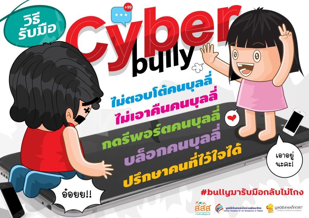 โปสเตอร์การ์ตูน วิธีรับมือ Cyber bully